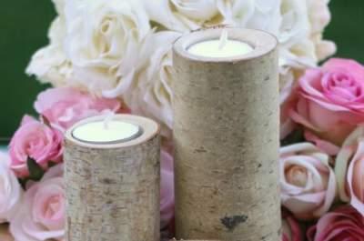 Pour un mariage romantique, ajoutez des bougies