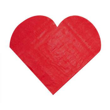Servilletas Corazón Rojo 20 Unidades- Compra en The Wedding Shop