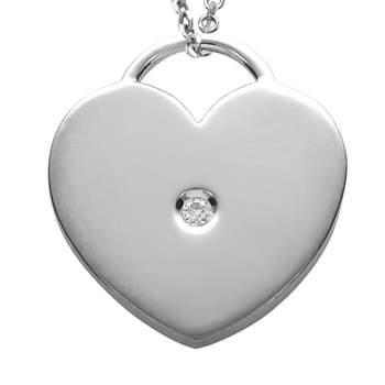 Lleva todo el amor de tu corazón colgado del cuello con este original colgante de oro blanco y diamantes.  Foto: Chancejoyas. http://www.chancejoyas.com