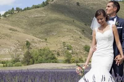 Caroline + Jérémie : un mariage champêtre dans le parc régional des Baronnies provençales
