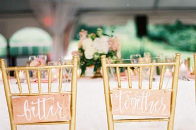 Come decorare le sedie del tuo matrimonio: i trend per il 2017