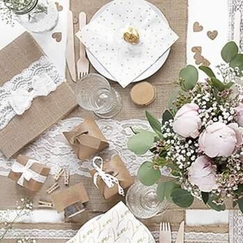 Chemin de table en jute 28cm - The Wedding Shop !