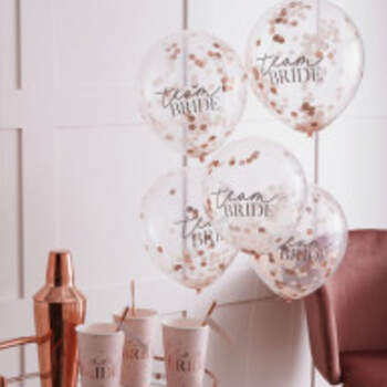 Ballons Team Bride Romantiques 5 Pièces - The Wedding Shop !