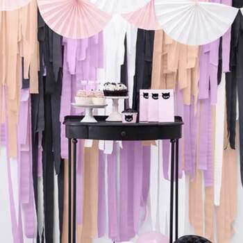 Décoration bandes noires 4 pièces - Achetez sur The Wedding Shop !