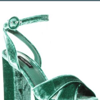 Sandali di velluto di Dolce   e Gabbana