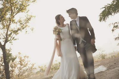 ¿Llevarías un velo de color en tu boda? ¡Inspírate con los looks de estas novias!