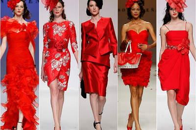 Тенденции 2015: красные вечерние платья для приглашенных на свадьбу