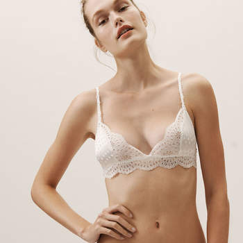 Pearly White Bralette, Bhldn