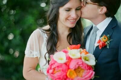Una boda real decorada en enigmático coral: Una gama de colores intensa para una Real Wedding espectacular