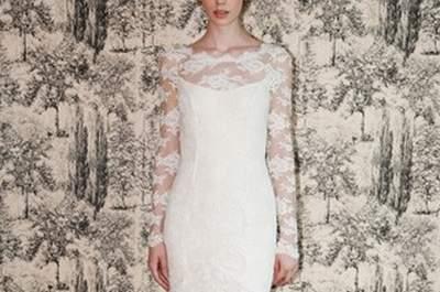 Vestidos de novia corte recto: los mejores modelos para este 2017