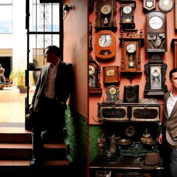 Uma maravilha de sessão fotográfica pré-casamento: inspiração vintage no deslumbrante cenário do requintado Club La Lonja, inaugurado em 1868 - o mais antigo bar do estado mexicano de San Luis Potosí.