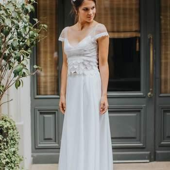 Robe de mariée simple modèle Marie - Crédit photo: Elsa Gary