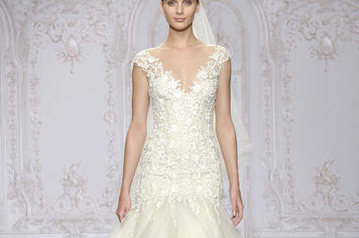 Vestidos de novia Monique Lhuillier 2016: lujo, sofisticación y encanto