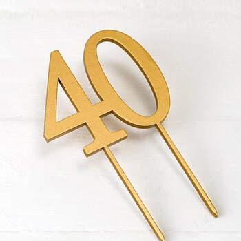 Figura Para Tarta 40 años Oro- Compra en The Wedding Shop