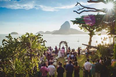Casamento rústico de Nathalia & Jeann: ao ar livre, super descontraído e nada tradicional!