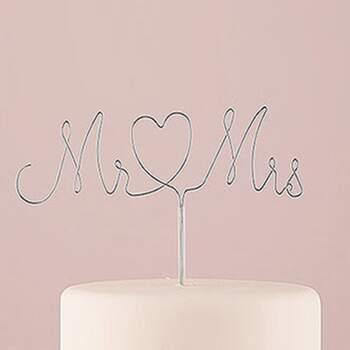 Cake Topper Monsieur Et Madame Argent - The Wedding Shop !