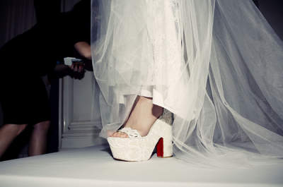 Los zapatos de Christian Louboutin en las mejores pasarelas del New York Bridal Fashion Week