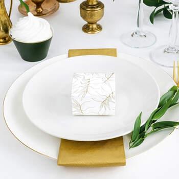 Caja Hojas Oro- Compra en The Wedding Shop