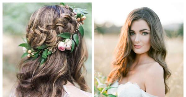 Verrassend Bruidskapsels met los haar: ga voor naturel! YV-11