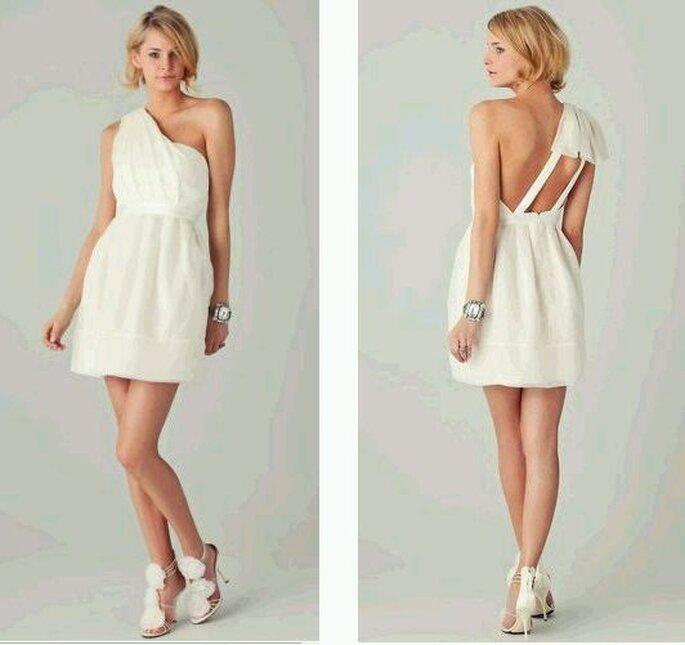 Thread Organza One-Shoulder Dress