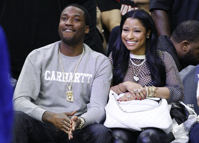Nicki Minaj y Meek Mill.