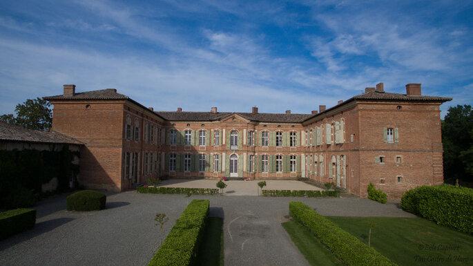 La cour intérieure du Château de Merville