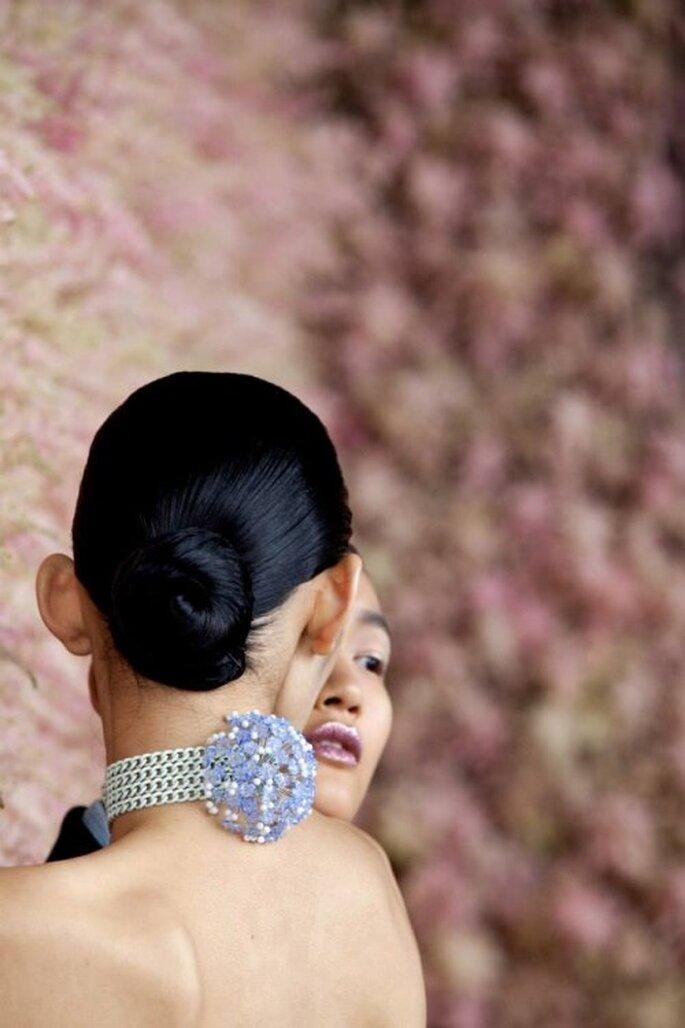 Chongo clásico para novias 2014 - Foto Dior
