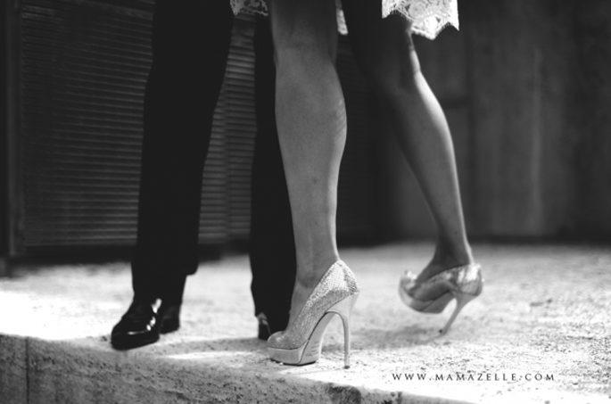 Schöne Beine für das Hochzeitskleid. Foto: Mélissa Lenoir.