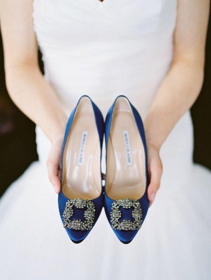 Zapatos de novia en lindos colores - Krystle Akin