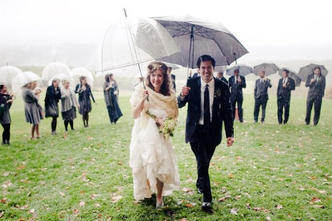 Tips para que tus fotos de boda bajo la lluvia queden lindas - Joey Kennedy Photography