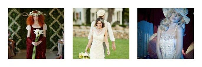 Sciolti con un tocco di romanticismo. Foto: oscardelarenta.com, yolancris.es e Mik Larson per stylemepretty.com