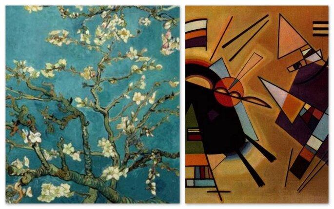 "Van Gogh, ""Mandorlo in fiore"", Kandinsky, ""Black & violet"""