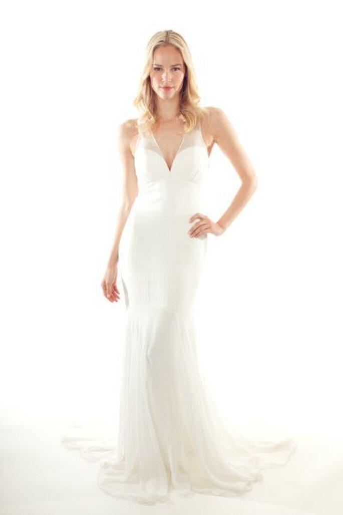 Un vestido de novia pensado para una diosa moderna. Nicole Miller - Primavera 2013. Foto: www.nicolemiller.com