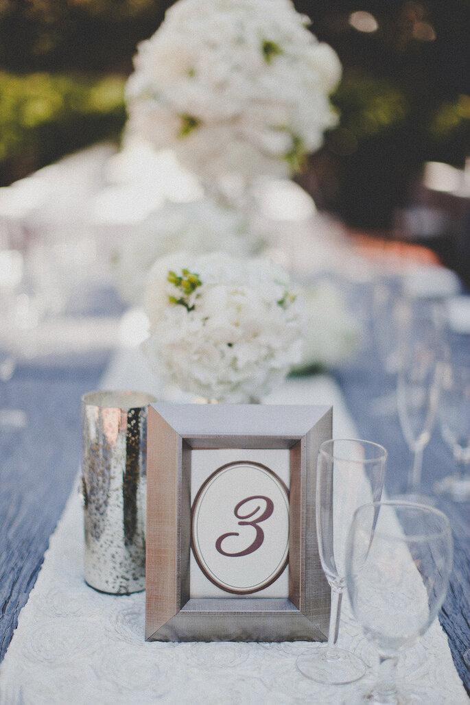 Decoración de boda con marcos y portarretratos - Studio Castillero