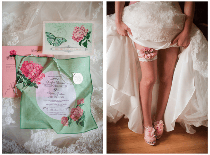Una boda increíble con detalles en color verde y rosa - Foto Katelyn James