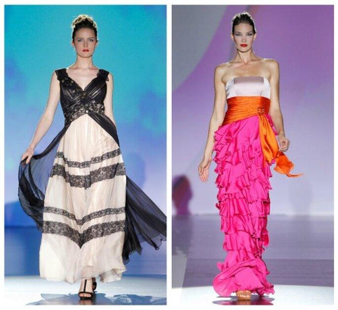 Farbig soll es zugehen: Bunte Brautkleider aus den Kollektionen 2012