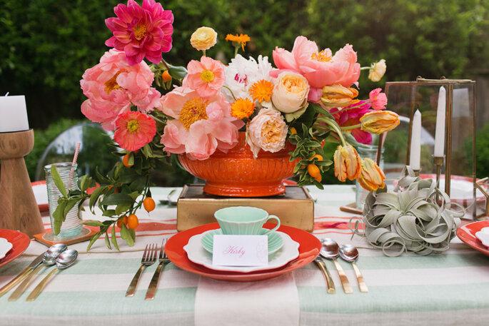 decoración de bodas en color menta - Charla Storey Photography