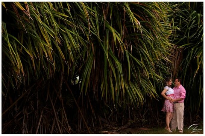 Jardin exótico para sesión de fotos casual - Foto Emmanuel Aquino