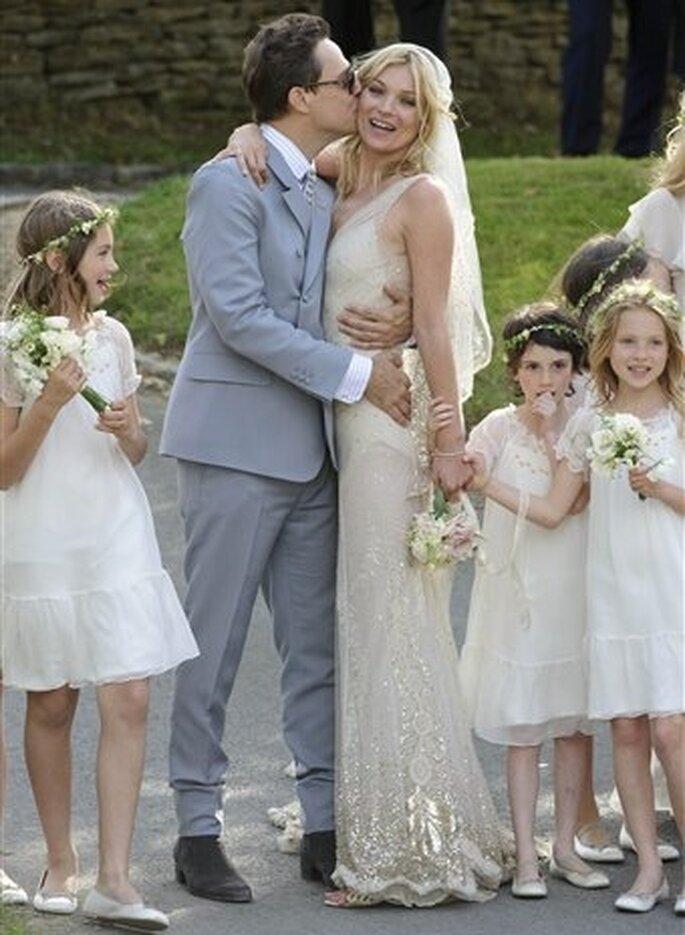 Consejos para elegir tu vestido de boda en verano - Cortesía Kate Moss