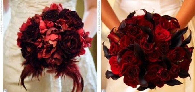 Bouquets rouges gothiques - Gothic.weddings.com