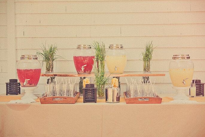 Rinconcito para las bebidas. Foto: Sweet Little Photographs