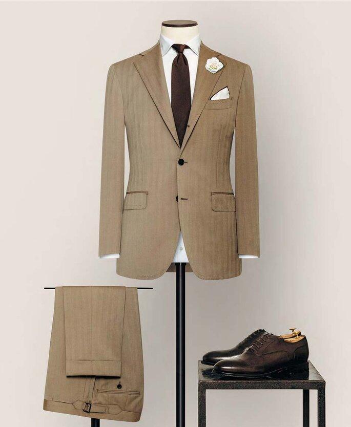 Anzug von Alferano beige