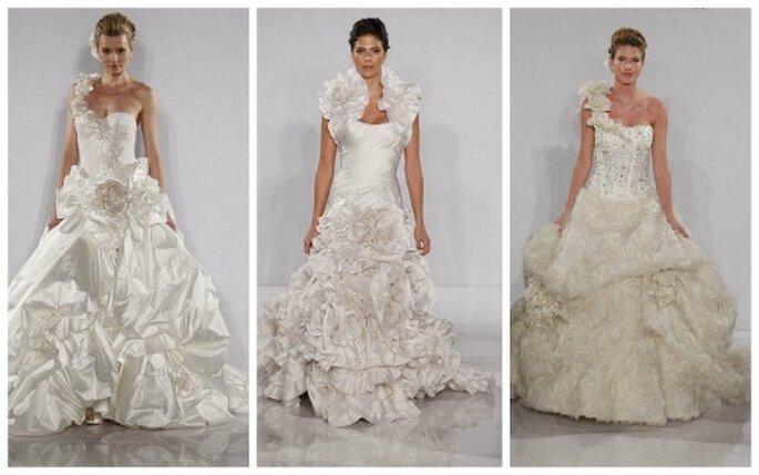 3 super abiti da sposa, eccessivi ed estremamente femminili, per una sposa che non ha paura di osare. Pnina Tornai Collezione 2012