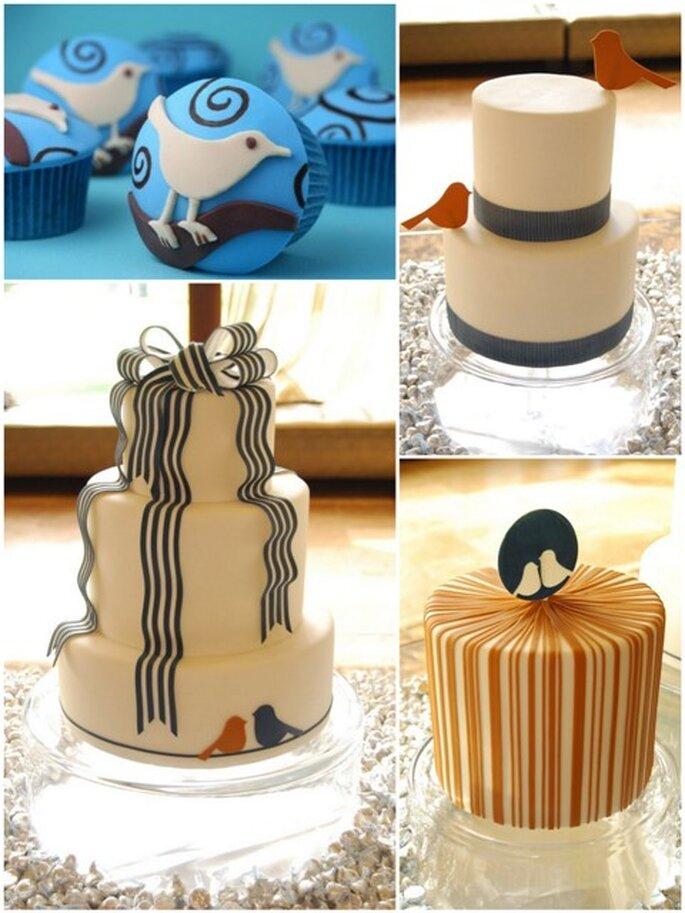 Tortas de bodas de www.gateaux-inc.blogspot.com y Bakerella