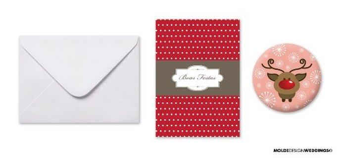 Ganhe 5 postais + crachás de Natal!