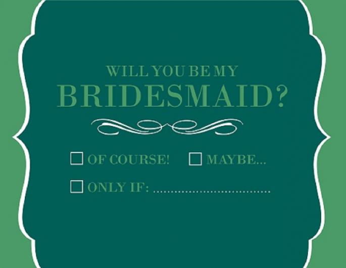 Tarjetas de invitación para damas de boda - Foto The Dressy Group
