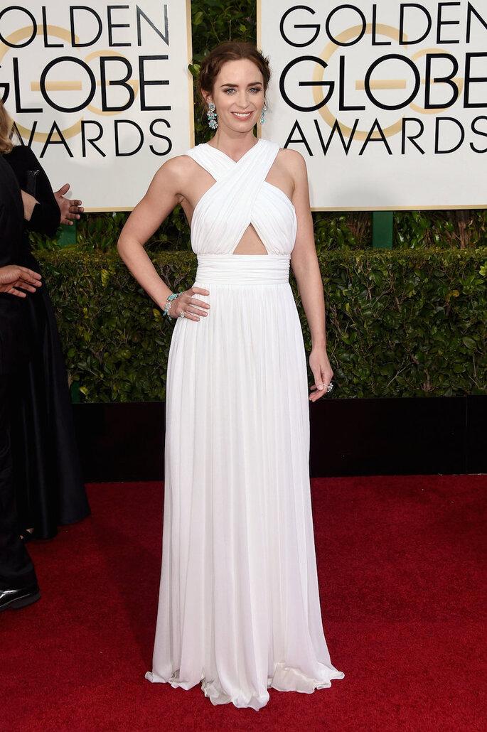 Las mejor vestidas de los Golden Globe Awards 2015 - Michael Kors (Emily Blunt)