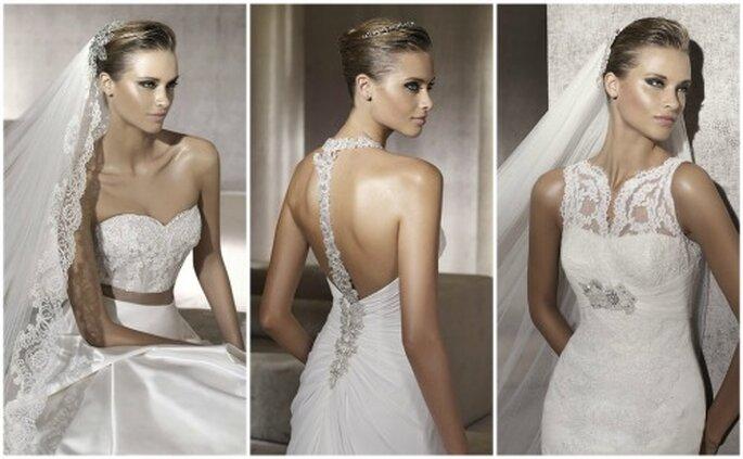 Vestidos de novias Pronovias 2012. Tres de los modelos de moda para la temporada. Foto: Pronovias