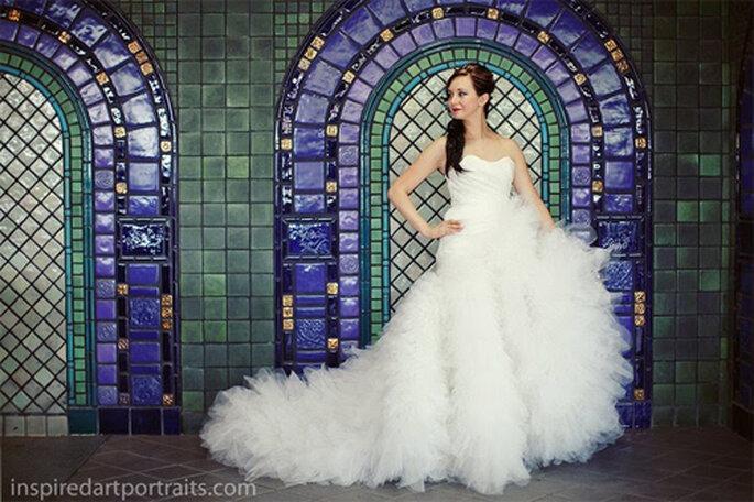 Vestido de novia de Shannon Siriano - Foto: Shannon and Evan Blog