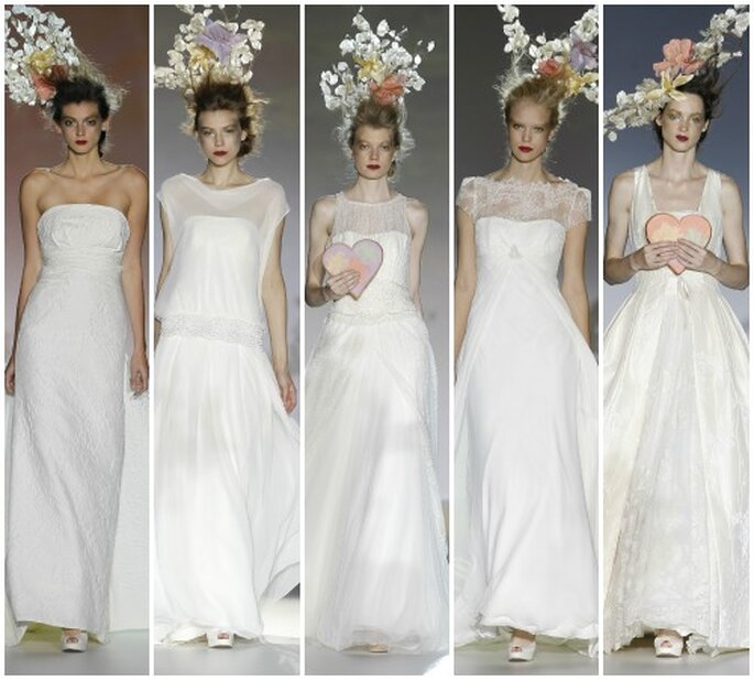 Raimón Bundó 2013 y sus novias de aspecto naive. Foto: Barcelona Bridal Week